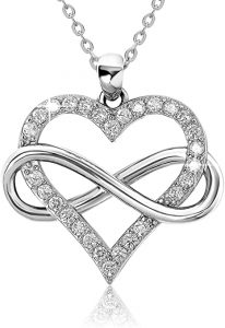 Infinity love pendant liver necklace