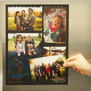 Magnetic image collage